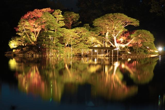 六義園の夜桜2019の混雑や見頃、花見の場所に屋台情報、ライトアップ時間