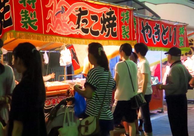 大阪天神祭2019の屋台出店露店の食べ物、グルメは?出店場所や開店、閉店時間