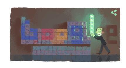 ウィリアム・ラムゼイ卿 生誕167周年記念にGoogleロゴ変更