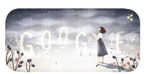 シルヴィア・プラス 生誕87周年記念にGoogleロゴ変更